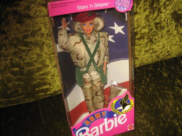 Image 0 of Barbie Army Stars and Stripes doll with accessories 11 inch new in box