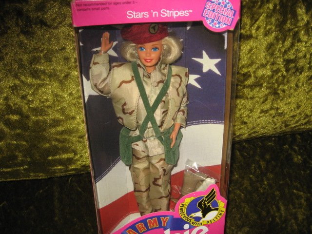 Image 1 of Barbie Army Stars and Stripes doll with accessories 11 inch new in box
