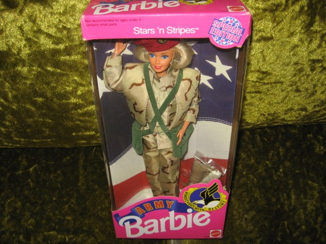 Image 2 of Barbie Army Stars and Stripes doll with accessories 11 inch new in box