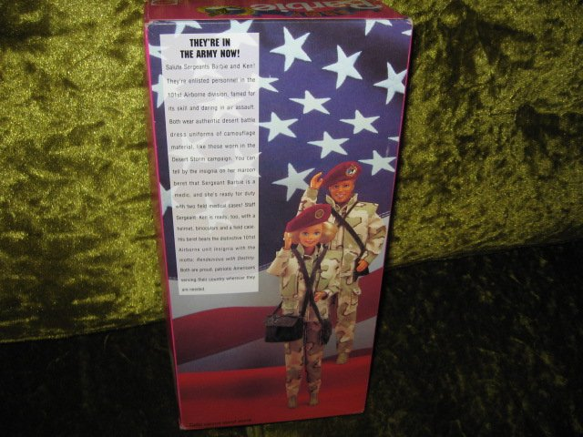 Image 3 of Barbie Army Stars and Stripes doll with accessories 11 inch new in box