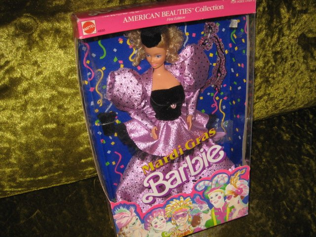 Mardi Gras Barbie New In Box 12 inch with accessories