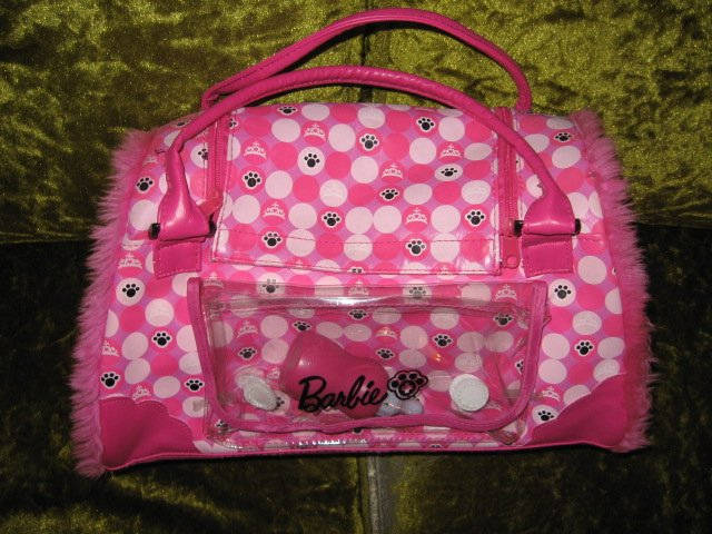 Image 0 of Barbie pet dog carrying case with dog