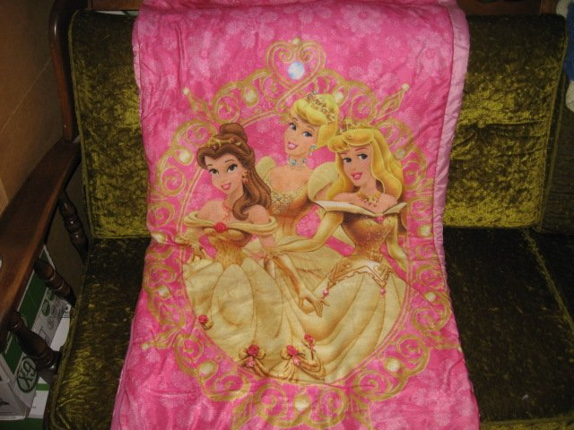 Disney Princess sleeping bag with carrying case
