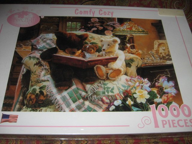 Image 1 of Comfy Cozy 1000 piece puzzle 20 X 27