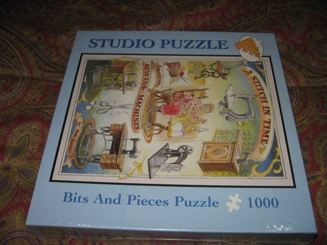 Image 0 of Studio Stitch In Time bits and pieces 1000 piece puzzle 20 X 27