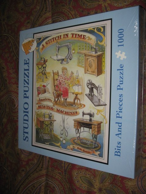 Image 1 of Studio Stitch In Time bits and pieces 1000 piece puzzle 20 X 27