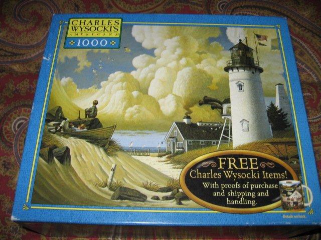 Image 3 of Lighthouse Charles Wysocki 1000 piece puzzle 22 X 25 inch