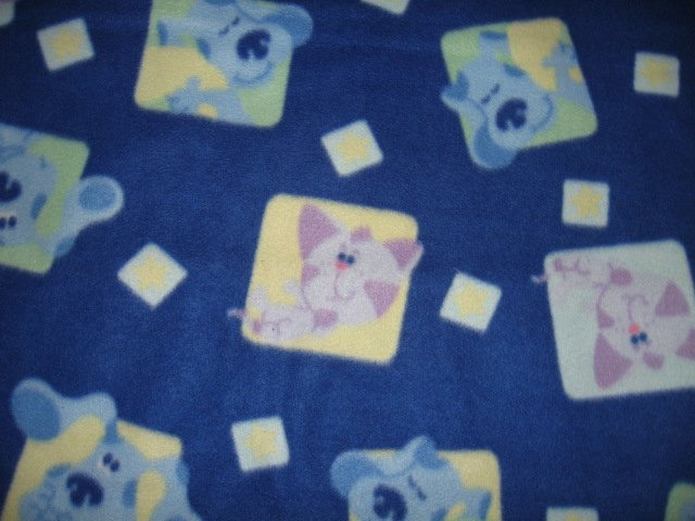 Image 0 of Blues Clues Child bed size licensed handmade fleece blanket 44