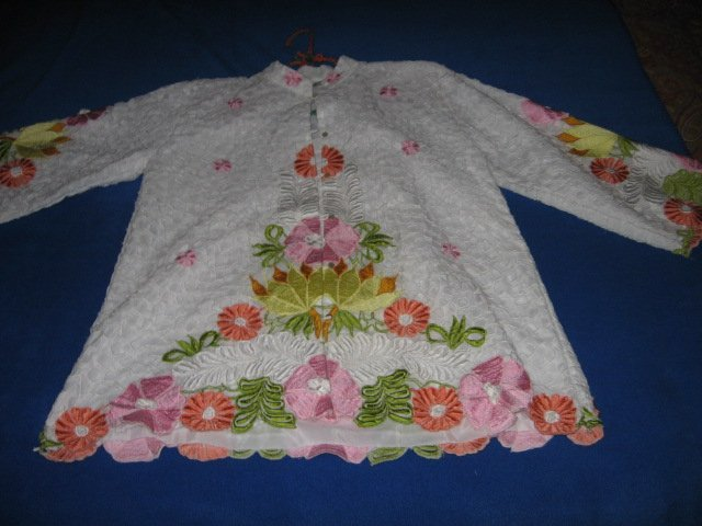 Image 1 of Honeymoon embroidered cutpiece liteweight jacket size M