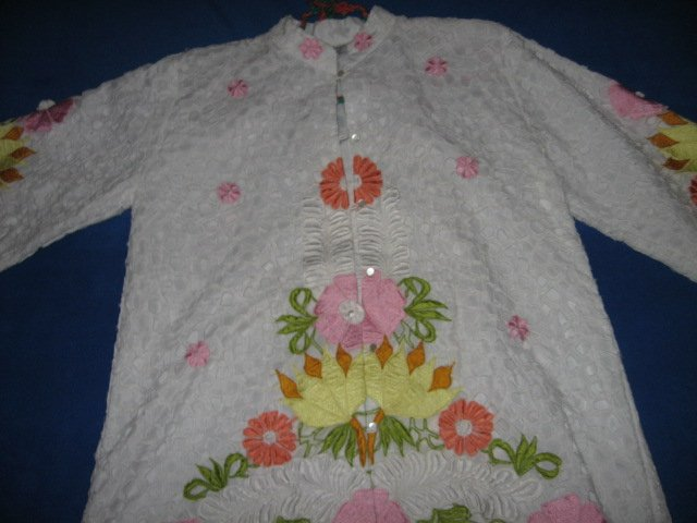 Image 2 of Honeymoon embroidered cutpiece liteweight jacket size M