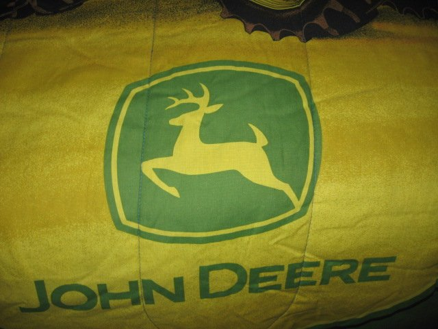 Image 2 of John Deere Tractor extra thick comforter 48 inches by 84 inches
