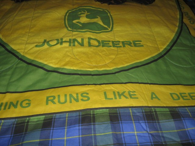 Image 3 of John Deere Tractor extra thick comforter 48 inches by 84 inches