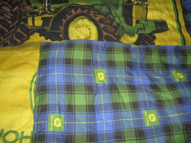 Image 5 of John Deere Tractor extra thick comforter 48 inches by 84 inches