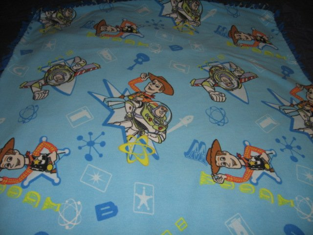 Image 0 of toy story double sided Fleece Blanket tied edges 42 inch by 52 inch