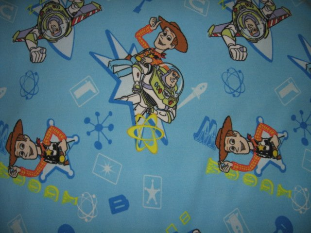 Image 2 of toy story double sided Fleece Blanket tied edges 42 inch by 52 inch
