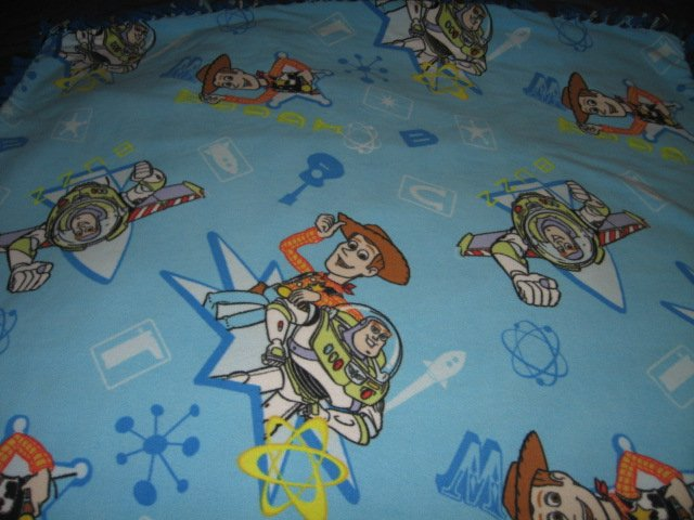 Image 3 of toy story double sided Fleece Blanket tied edges 42 inch by 52 inch