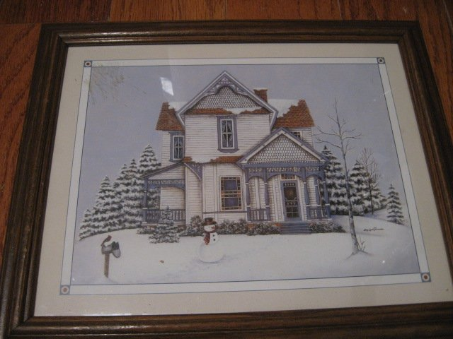 Victorian house drawing pen and ink reproduction Artist Kay Lamb Shannon