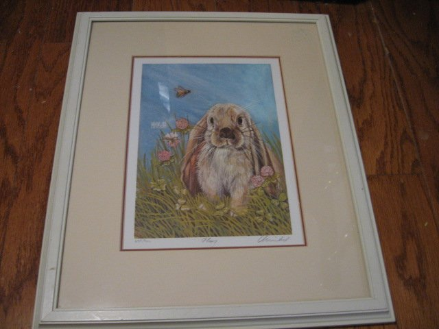 Flop Bunny Rabbit pencil signed limited print by MM Michel