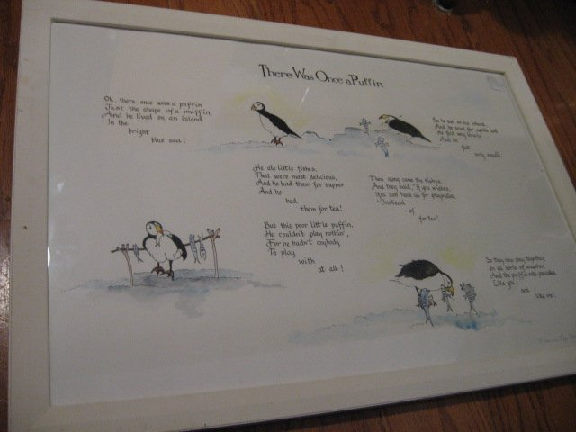 Puffin picture poem bird Florence Page Jacques