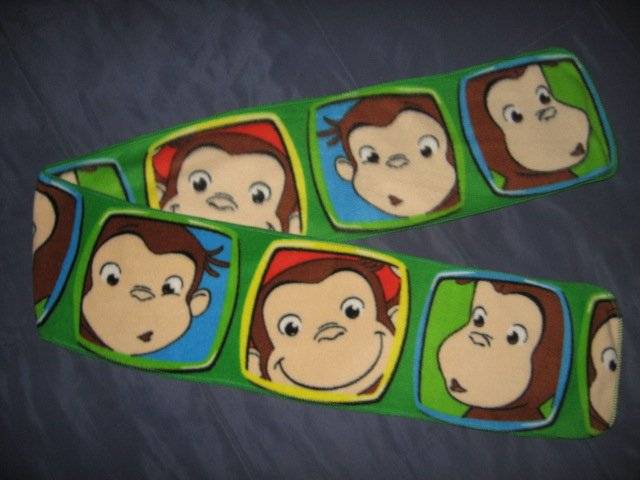Curious George Face Square fleece child party table runner or scarf