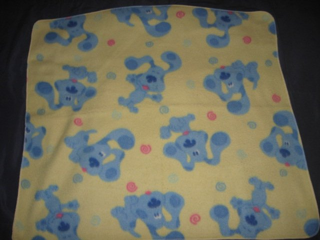 Blues Clues fleece baby blanket  27X31  Handmade Rare