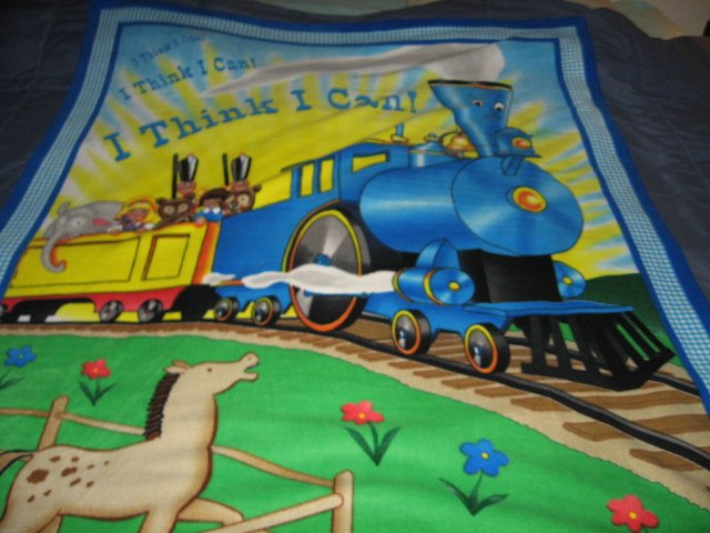 Image 0 of Little Engine That Could Child Bed size Fleece Blanket 48