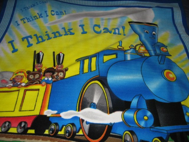 Image 2 of Little Engine That Could Child Bed size Fleece Blanket 48