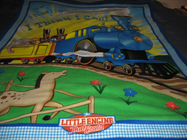 Image 3 of Little Engine That Could Child Bed size Fleece Blanket 48