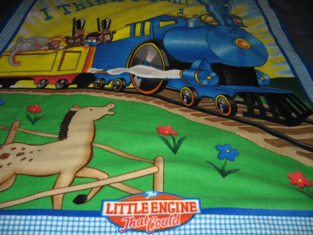 Image 4 of Little Engine That Could Child Bed size Fleece Blanket 48