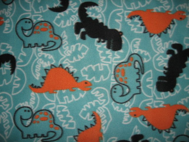 Dinosaur  toddler Fleece Blanket 36x58 inch