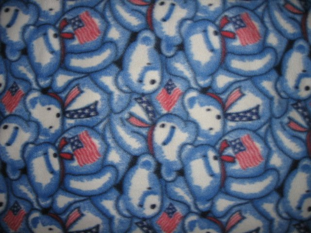 Image 0 of Patriotic Teddy fleece baby blanket  28