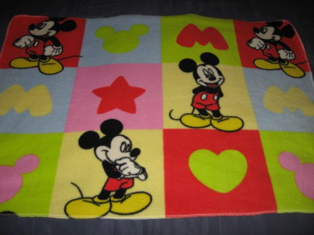 Image 0 of Disney Mickey Mouse Fleece Baby blanket 23 by 58 inch