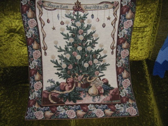 Image 0 of Victorian Christmas Wall Hanging Tapastry 26 inch by 36 inch