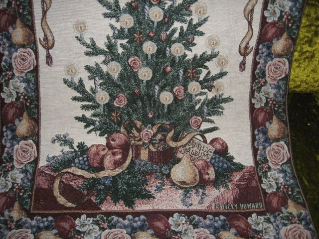 Image 2 of Victorian Christmas Wall Hanging Tapastry 26 inch by 36 inch