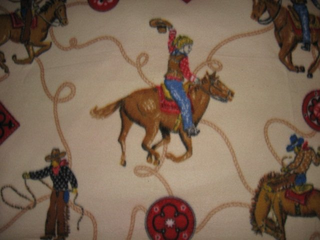 Image 2 of Horse lasso bronco boy western cowboy Fleece blanket throw