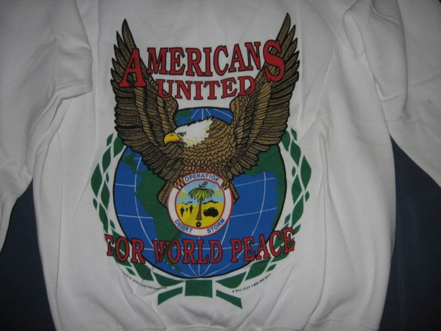 Image 0 of Operation Desert Storm Shield New Large Sweater vintage 90's