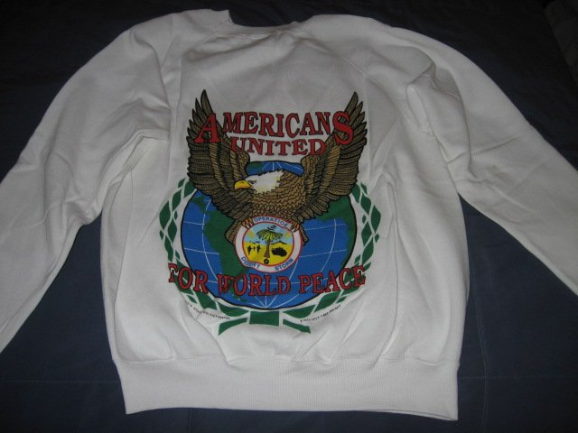 Image 1 of Operation Desert Storm Shield New Large Sweater vintage 90's