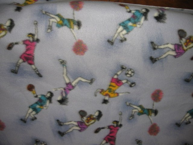 Image 1 of girl sport tennis soccer basketball soft new antipill bed size fleece blanket
