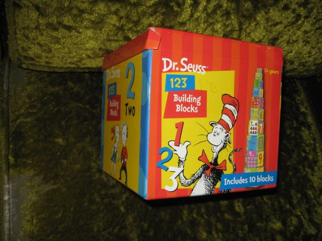 Image 1 of Dr Seuss 123 Building Blocks Learn to Count 10 blocks