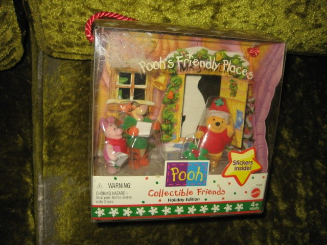 Image 0 of Pooh Holiday Edition collectible friends  NIB  4 plus years