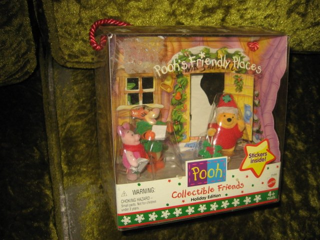 Image 2 of Pooh Holiday Edition collectible friends  NIB  4 plus years
