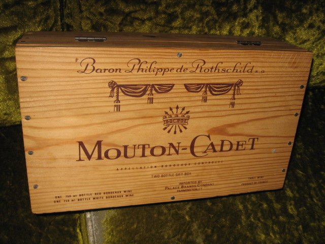 Mouton-Cadet two wine bottle gift box wine not included