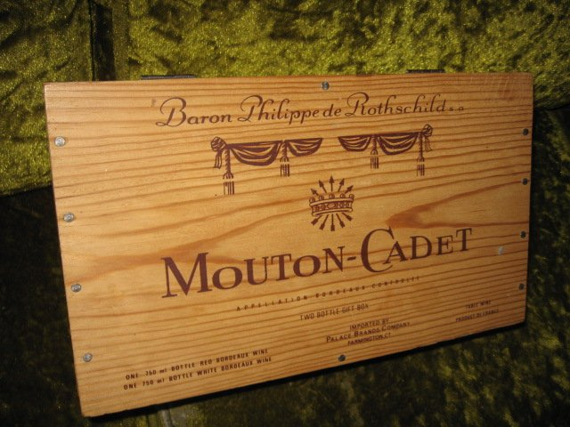 Image 1 of Mouton-Cadet two wine bottle gift box wine not included