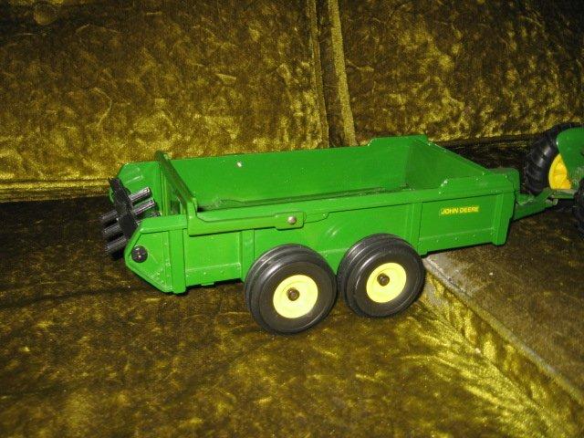 Image 2 of John Deere tractor and spreader metal farm crop seed