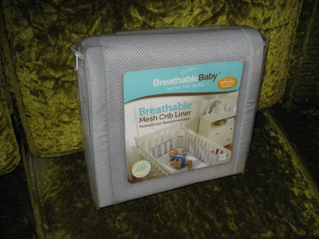 Image 0 of Mesh Crib Liner BreathableBaby New