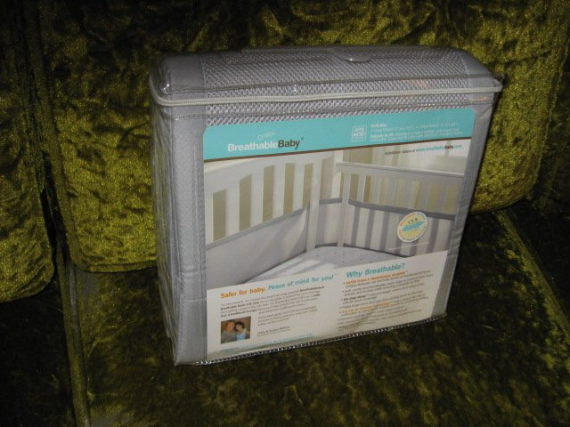 Image 1 of Mesh Crib Liner BreathableBaby New
