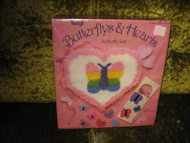 Image 0 of Butterflys hearts latch hook activity Kit