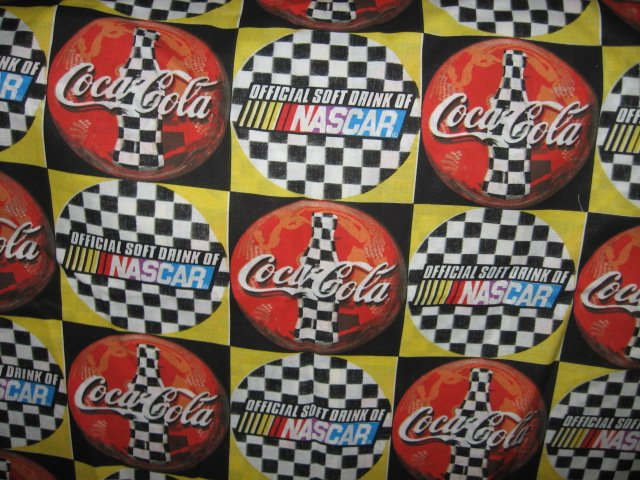 Image 0 of Coca-Cola Coke NASCAR ORIGINAL cotton Fabric by the yard