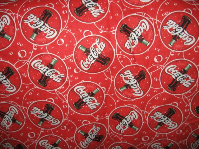 Coca-Cola logo bottles red flannel one piece  rare