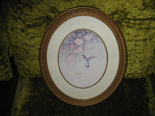 Hummingbird print artist Marjie Morrow 13 inch X  10 inch